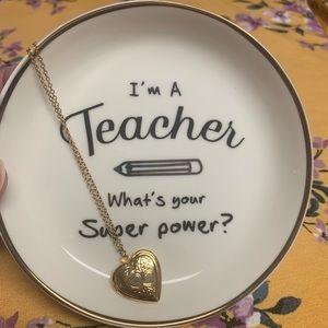 "NWT Trinket Tray ""I'm a teacher....."""